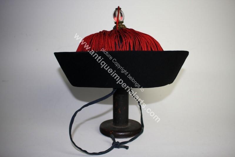 Antique Imperial Arts Antique Chinese Mandarin Hat